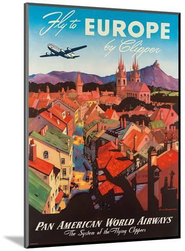 Pan American: Fly to Europe by Clipper, c.1940s-M^ Von Arenburg-Mounted Art Print