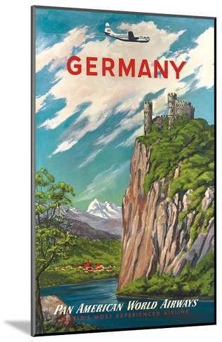 Pan American: Germany der Rhine, c.1950s--Mounted Art Print