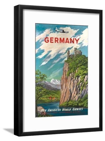 Pan American: Germany der Rhine, c.1950s--Framed Art Print