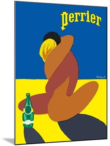 Perrier: Nude Lovers, c.1980-Bernard Villemot-Mounted Giclee Print