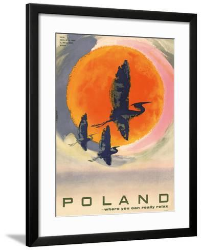 Poland: Where You Can Really Relax, c.1965-T^ Jodkowski-Framed Art Print