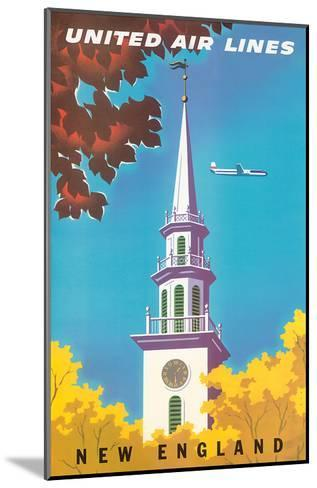 United Air Lines: New England, c.1950s-Joseph Binder-Mounted Art Print