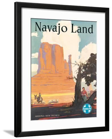 Santa Fe Railroad: Navajo Land, c.1954--Framed Art Print