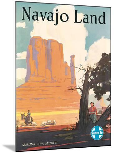Santa Fe Railroad: Navajo Land, c.1954--Mounted Giclee Print