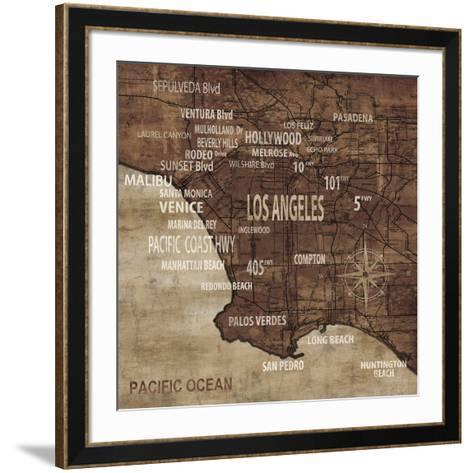 Map of Los Angeles-Luke Wilson-Framed Art Print