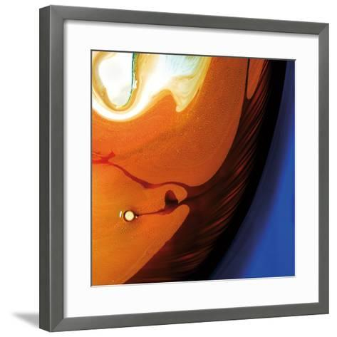 Orange Swirling Abstract, c.2008-Pier Mahieu-Framed Art Print