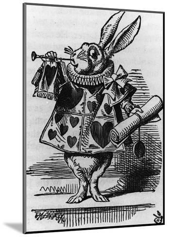 Rabbit with Trumpet-John Tenniel-Mounted Giclee Print