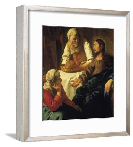 Christ in the House of Mary & Martha-Johannes Vermeer-Framed Art Print