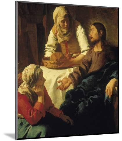 Christ in the House of Mary & Martha-Johannes Vermeer-Mounted Giclee Print