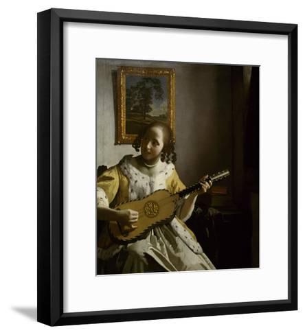 Guitar Player-Johannes Vermeer-Framed Art Print