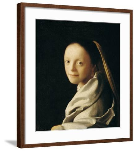 Portrait of a Young Woman-Johannes Vermeer-Framed Art Print