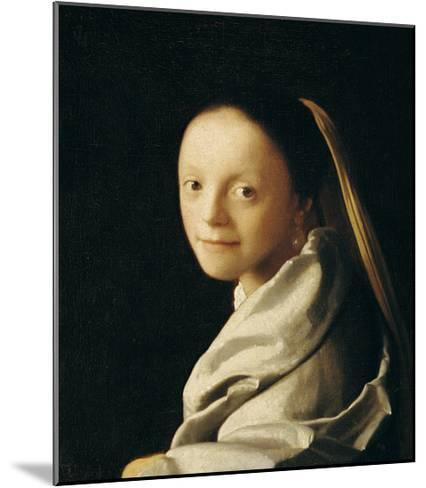 Portrait of a Young Woman-Johannes Vermeer-Mounted Giclee Print