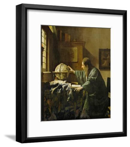 The Astronomer-Johannes Vermeer-Framed Art Print