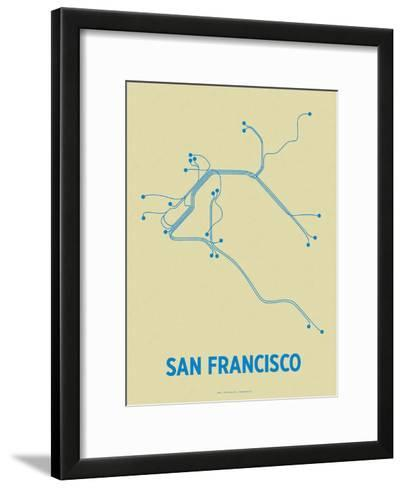 San Francisco (Cement & Blue)-LinePosters-Framed Art Print