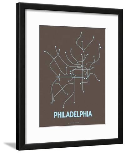 Philadelphia-Line Posters-Framed Art Print