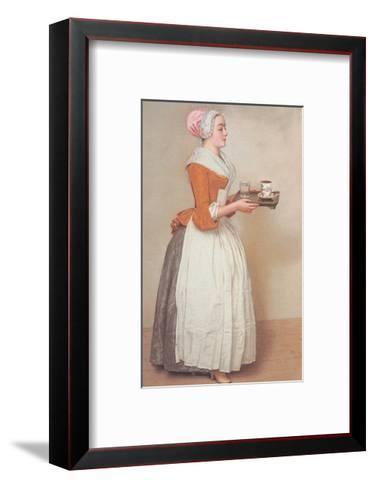 Schokoladenm?dchen-Jean-Etienne Liotard-Framed Art Print