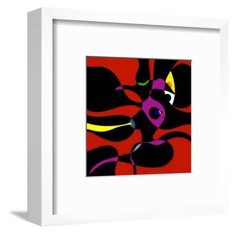 Nude in Red-R^o^ Schabbach-Framed Art Print