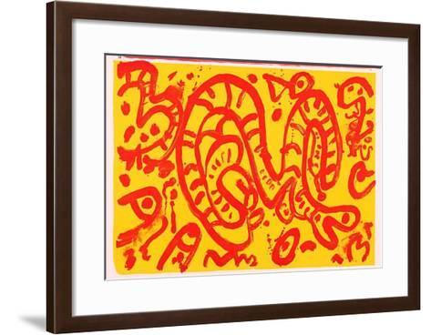 0-1 (One Cent Life)-Alan Davie-Framed Art Print