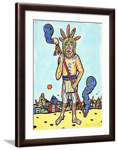 City Indian-Moritz Götze-Framed Art Print