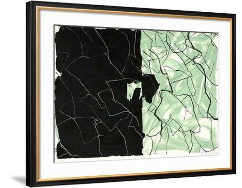 O.T. gr?n-Peter Mandrup-Framed Art Print