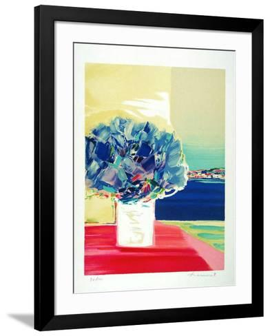 Floralies bleues-Claude Hemeret-Framed Art Print