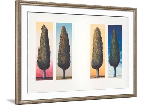 4 Zypressen, c.1999-Folkert Rasch-Framed Art Print