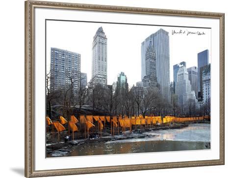 The Gates, Foto 50-Christo-Framed Art Print