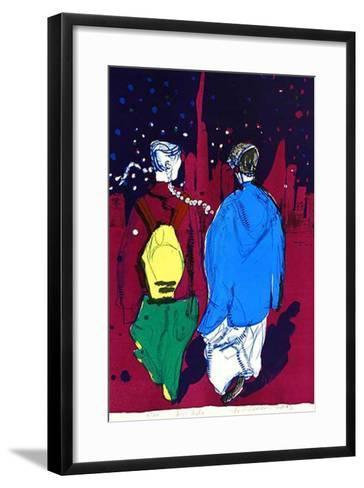 Two N.Y. Kids-Rainer Fetting-Framed Art Print