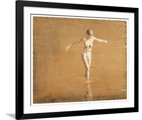 Badende Frau-Christoph P?ggeler-Framed Art Print
