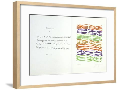 Jean Cassau-Giuseppe Capogrossi-Framed Art Print