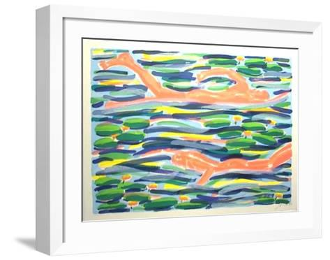 Waterlilypond I-Salom?-Framed Art Print