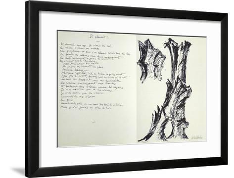 Jean Cassau-Fritz Wotruba-Framed Art Print