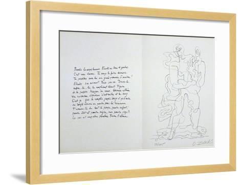 Jean Cassau-Ossip Zadkine-Framed Art Print