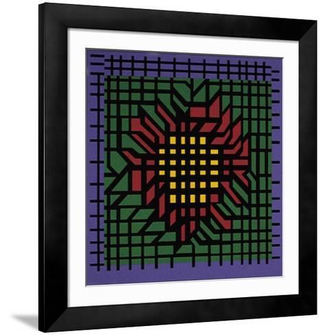 Kat-Zag-Victor Vasarely-Framed Art Print