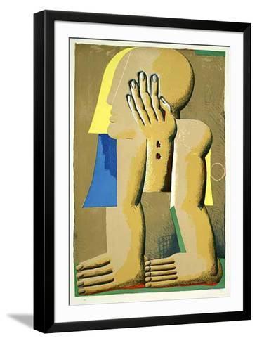 KopfLitho-Horst Antes-Framed Art Print