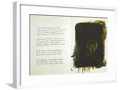 Jean Cassau-Antoni Tapies-Framed Art Print