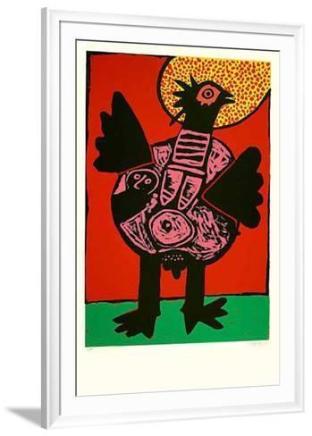 Grosser Vogel-Corneille-Framed Art Print