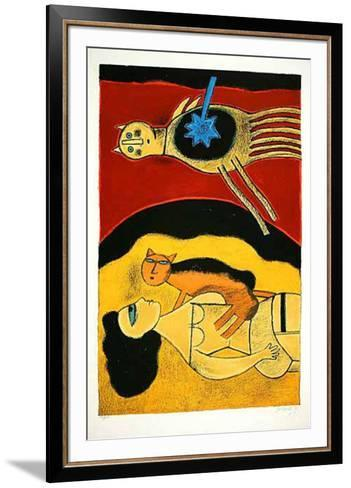 Blauer Stern-Corneille-Framed Art Print