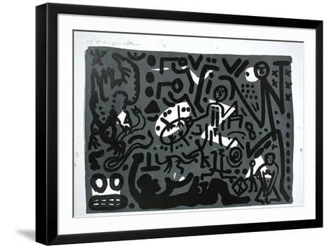 Lausanne 4 Hände auf den Tisch-A^ R^ Penck-Framed Art Print