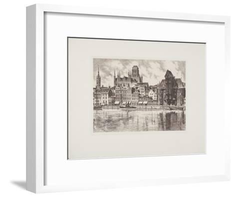 Danzig, 3 Wahrzeichen-Bruck-Framed Art Print