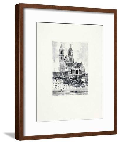 Magdeburg, Dom (hoch)-Bruck-Framed Art Print
