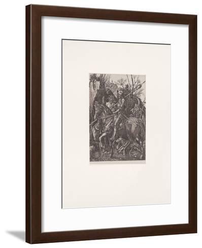 Ritter,Tod + Teufel (s/w)-Albrecht D?rer-Framed Art Print
