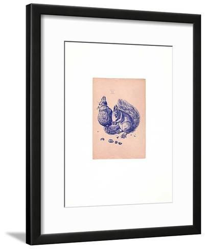 Eichhörnchen Blau/Altrosa-Albrecht D?rer-Framed Art Print