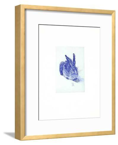 Hase Blau/Hellblau-Albrecht D?rer-Framed Art Print