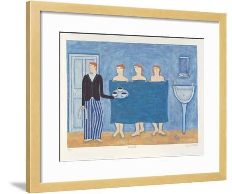 Dumb Waiter-Paula Mcardle-Framed Art Print