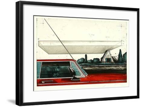 Vorstadt-Joachim Palm-Framed Art Print