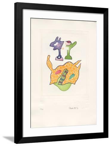 Fantasiewesen Schwebendes Pferd B, c.1974-Otmar Alt-Framed Art Print