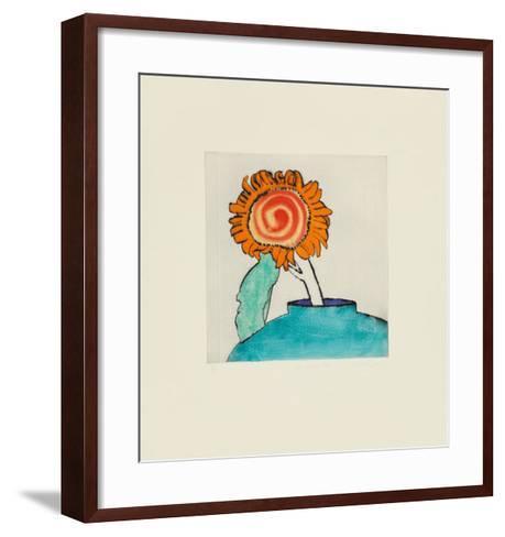 Sunflower Solo-Richard Spare-Framed Art Print
