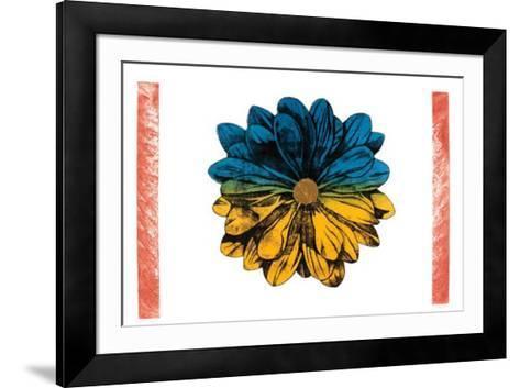 Clear Objekt (Blau-Gelb)-Eliza Kopec-Framed Art Print
