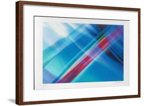 Composition Blau, c.2002-Norbert Schäfer-Framed Art Print